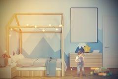 Sala do bebê s com um cartaz tonificado Fotografia de Stock Royalty Free