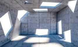 sala do concreto 3d Imagens de Stock