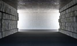 Sala do concreto do Grunge Imagens de Stock