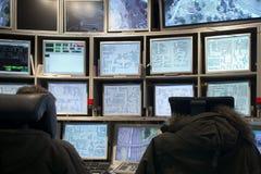 Sala do controlo de tráfico Imagem de Stock