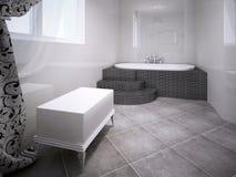 Sala do Jacuzzi Interior no estilo da vanguarda Imagens de Stock Royalty Free