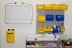 Sala do laboratório do hospital imagens de stock