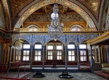Sala do palácio Topkapi do harém imagens de stock