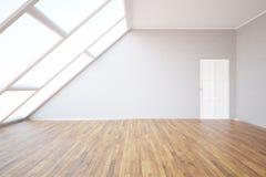 Sala do sótão com parede vazia Imagem de Stock Royalty Free