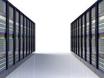 Sala do server no datacenter Foto de Stock