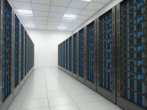 Sala do server no datacenter Fotos de Stock Royalty Free