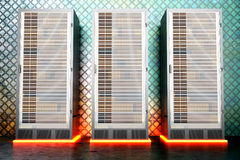 Sala do servidor do metal Imagens de Stock
