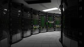 Sala do servidor, escurecimento vídeos de arquivo