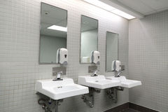 Sala do toalete público Imagem de Stock Royalty Free