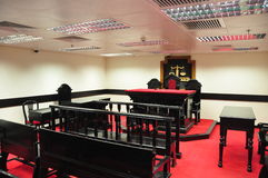 Sala do tribunal fotografia de stock royalty free
