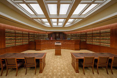 Sala do tribunal da biblioteca Foto de Stock Royalty Free