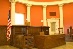 Sala do tribunal do Victorian Foto de Stock Royalty Free