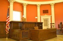 Sala do tribunal do Victorian Foto de Stock Royalty Free