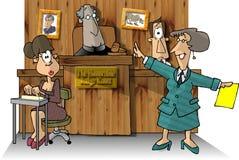 Sala do tribunal II ilustração stock