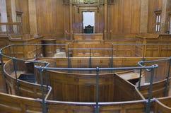 Sala do tribunal muito velha 1854 fotografia de stock