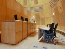 Sala do tribunal no tribunal fotografia de stock royalty free