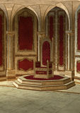 Sala do trono do conto de fadas Fotos de Stock Royalty Free