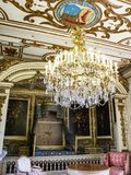 Sala Duc De Montmorency w Modave kasztelu lub kasztel obliczenia Marchin w Belgia obraz royalty free