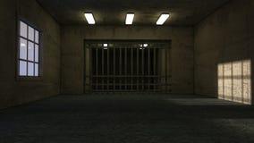 Sala e cadeia velhas foto de stock royalty free