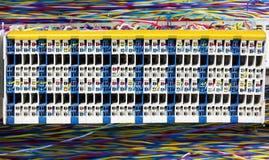 Sala e painel de controlo do servidor Fotografia de Stock