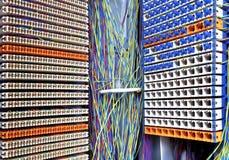 Sala e painel de controlo do servidor Fotos de Stock