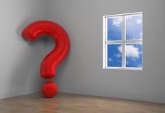 Sala e pergunta abstratas Imagens de Stock
