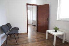 Sala e sala de espera de consulta fotografia de stock