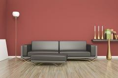 Sala e sofá Fotos de Stock