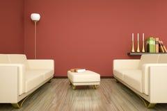 Sala e sofá Fotografia de Stock Royalty Free