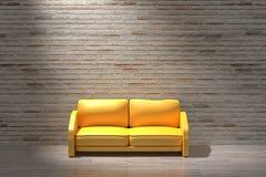 Sala e sofá rústicos ilustração stock