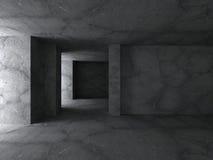 Sala eempty concreta escura Fundo moderno da arquitetura do Grunge Imagem de Stock Royalty Free