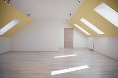 Sala espaçoso do sótão Imagem de Stock