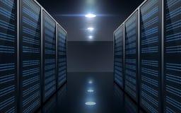 Sala futurista do servidor Fotos de Stock