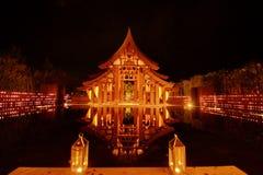 Sala hermoso en Tailandia, opinión de la noche Imagen de archivo