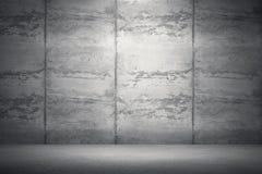 Sala interior com muro de cimento e o assoalho sujos rendição 3D mim Imagem de Stock