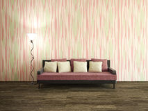 Sala interior com sofá Imagem de Stock Royalty Free