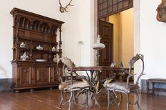 Sala interior da caça do vintage Castelo velho Fotografia de Stock Royalty Free