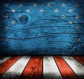 Sala interior vazia com cores da bandeira americana Fotos de Stock Royalty Free
