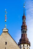 sala jest iglicy Tallin miasta Fotografia Royalty Free