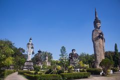 Sala Kaeo Kou Wat Khaek, near Nong Khai, Thailand royalty free stock image