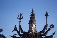 Sala Kaeo Kou Wat Khaek, vicino a Nong Khai, la Tailandia immagini stock libere da diritti