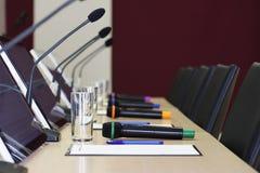 Sala Konferencyjna stół Obrazy Stock