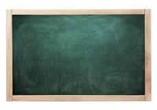 Sala lekcyjnej kredowej deski czarny zielony kolor odizolowywający na bielu Zdjęcia Stock