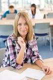 sala lekcyjnej nauka szczęśliwa uśmiechnięta studencka Fotografia Stock