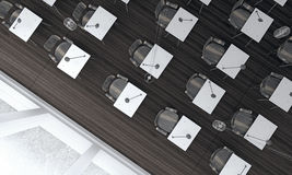 Sala lekcyjnej pojęcie z drewnianą podłoga (3d Odpłacają się) Obraz Royalty Free