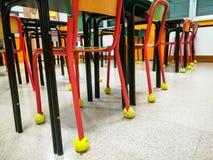 Sala lekcyjnych krzesła z rzędu Fotografia Stock