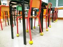 Sala lekcyjnych krzesła z rzędu Obraz Stock