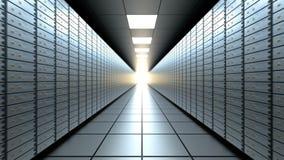 Sala longa do cofre-forte de banco vídeos de arquivo