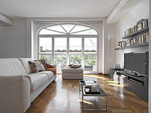 Sala lving moderna Foto de Stock Royalty Free