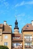 sala miasteczko stary basztowy obraz royalty free